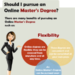 Infographic on Benefits Of An Online Masters Degree
