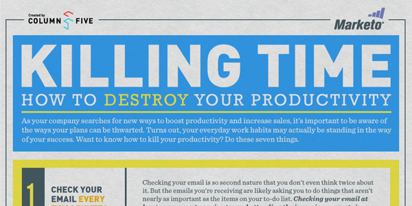 Infographic on How To Destroy Your Productivity