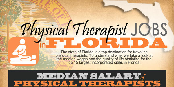 Infographic on Physical Therapist Jobs in Florida
