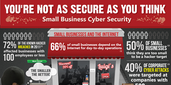 Infographic on Small Business Web Security