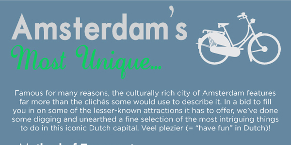 Infographic on Unique Attractions in Amsterdam