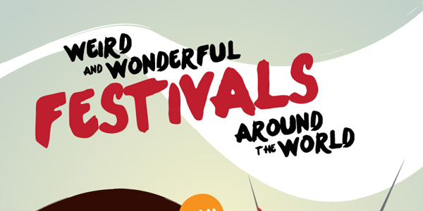 Infographic on Unusual Festivals Across The Globe