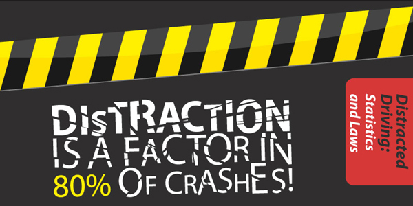 Infographic on Distracted Driving Related Accidents