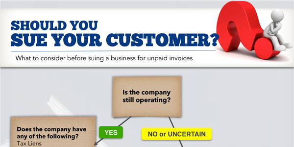 Suing Your Customer For Unpaid Invoices Infographic