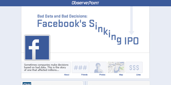 Infographic on Facebook IPO