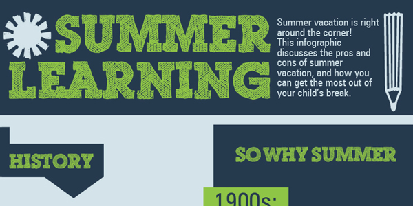 Effects of Summer Vacation on Learning Infographic