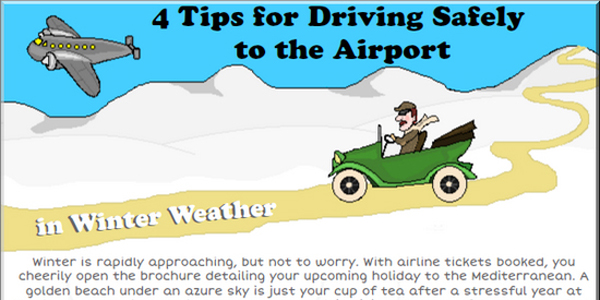 4 Safety Tips For Winter Driving Infographic