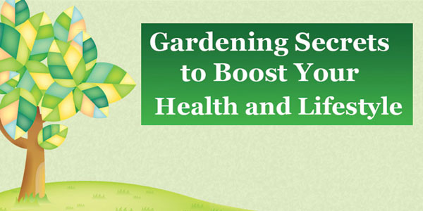 Health and Lifestyle Benefits from Gardening Infographic