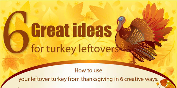Six Recipes For Leftover Turkey Infographic