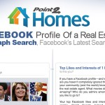 Facebook Graph Search Profile of a Real Estate Agent Infographic