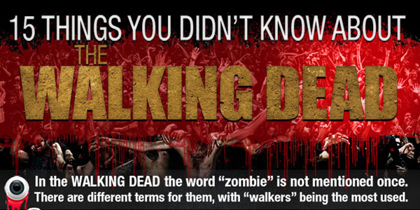 15 Things You Did Not Know About The Walking Dead Infographic