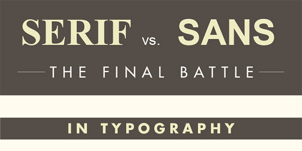 When To Use Serif vs Sans Typography Infographic