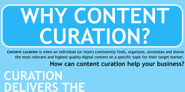 Marketing Beneftis of Content Curation Infographic