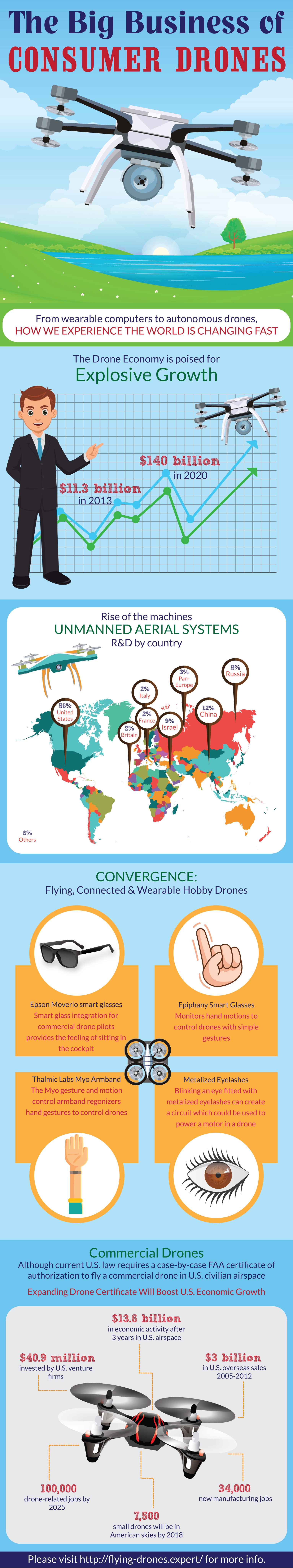The Business of Drones Infographic