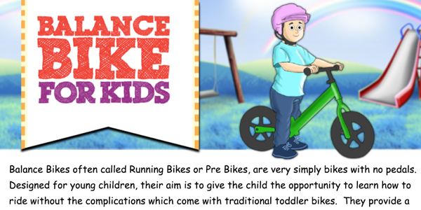 Benefits of a Balance Bike Infographic