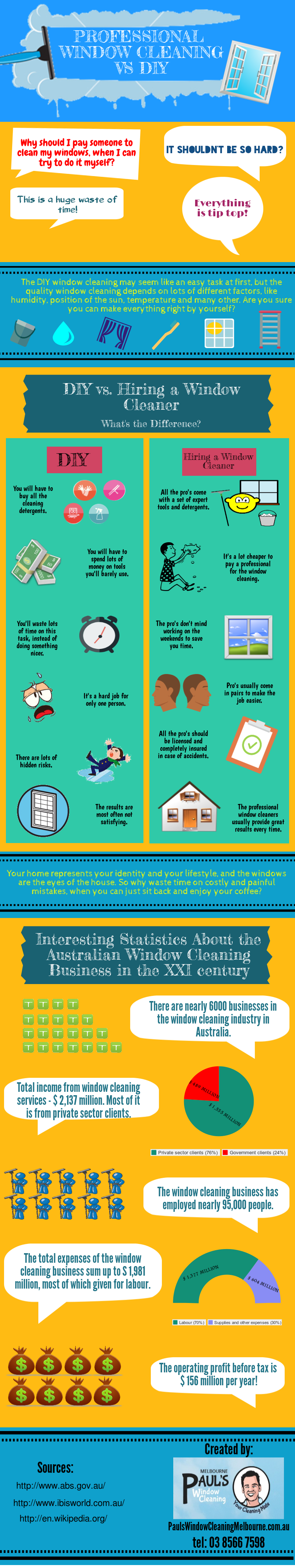 Professional window cleaning vs diy infographic infographix directory - Diy tips home window cleaning ...