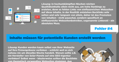 Die 7 häufigsten SEO-Fehler- The 7 most common SEO mistakes [german infographic]