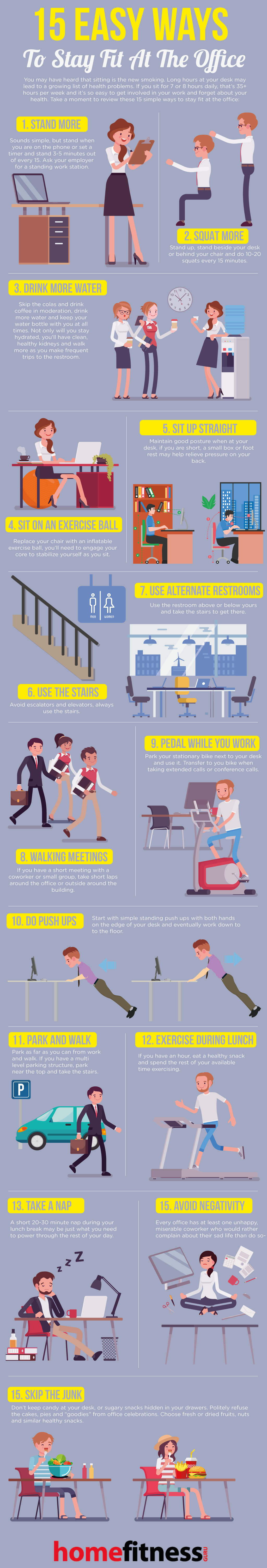 Easy Ways to Stay Fit at the Office